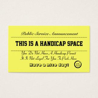 Handicap Parking Notice Cards