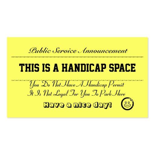 Learn to park business card templates bizcardstudio handicap parking notice cards business card colourmoves