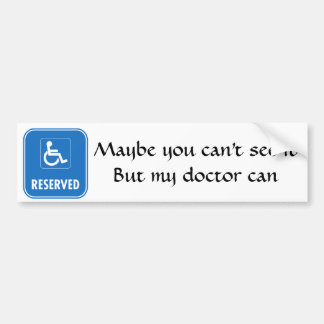 Handicap Parking Sign Bumper Sticker