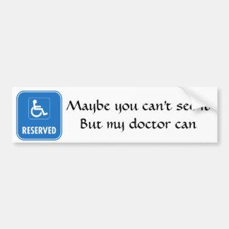 Handicap Parking Sign Car Bumper Sticker