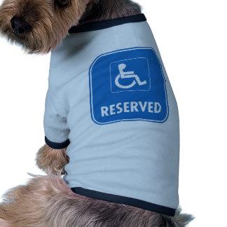 Handicap Parking Sign Doggie Tee Shirt