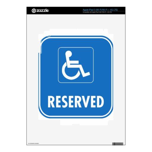 Handicap Parking Sign iPad 3 Skins