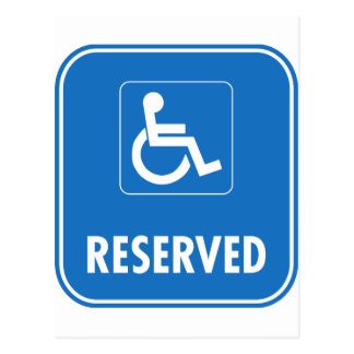 Handicap Parking Sign Postcard