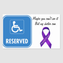 Handicap Parking Sign Rectangular Sticker