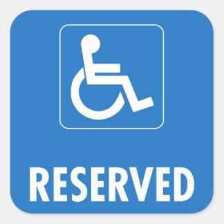 Handicap Parking Sign Square Sticker