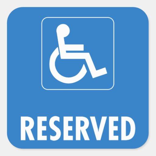 Handicap Parking Sign Stickers