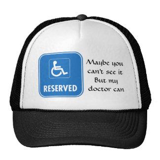 Handicap Parking Sign Trucker Hat
