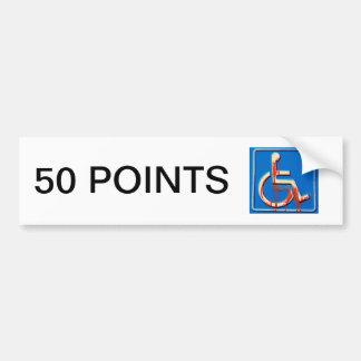 Handicap Points Bumper Stickers