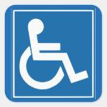 "Handicap Sign 1.5"" Sticker Square Sticker"