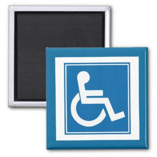 Handicap Sign 2 Inch Square Magnet
