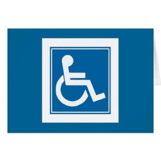 Handicap Sign Card