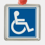 Handicap Sign Christmas Tree Ornament