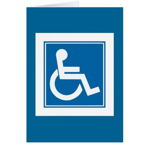 Handicap Sign Greeting Card