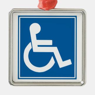 Handicap Sign Metal Ornament
