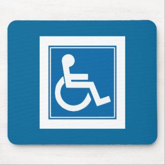 Handicap Sign Mouse Pad