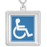Handicap Sign Necklaces