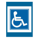 Handicap Sign Postcard