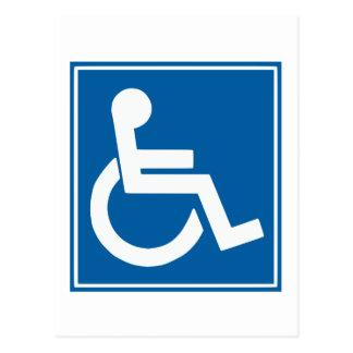 Handicap Sign Postcard