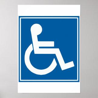 Handicap Sign Poster