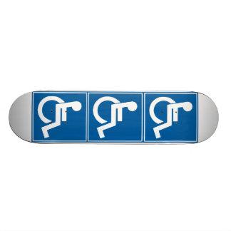 Handicap Sign Skate Board