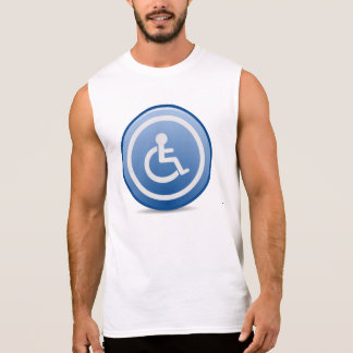 Handicap Sign Sleeveless Shirt