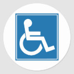 Handicap Sign Sticker