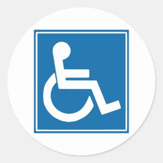 Handicap Sign Sticker