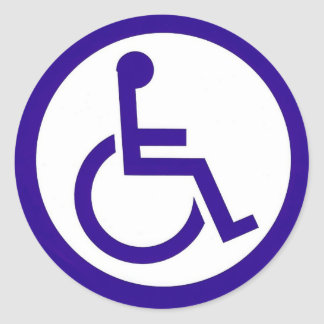 Handicap stickers zazzle Handicapped wheelchair