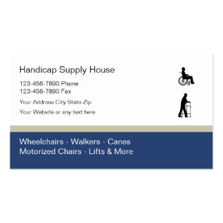 Handicap Supply Business Cards