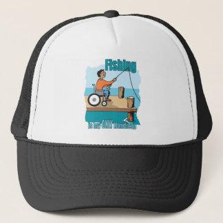 Handicap Wheelchair Fishing Trucker Hat