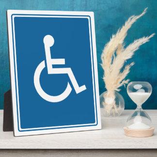 Handicap Wheelchair Sign Plaque