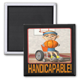 Handicapable 2 Inch Square Magnet