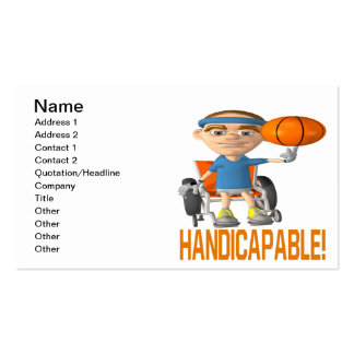 Handicapable Business Card Templates