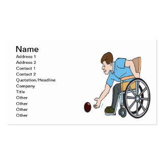 Handicapable Business Card Template