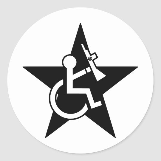 Handicapable Classic Round Sticker