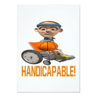 """Handicapable Invitación 5"""" X 7"""""""