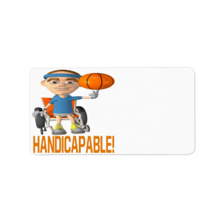 Handicapable Personalized Address Label