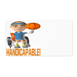 Handicapable Personalized Shipping Labels