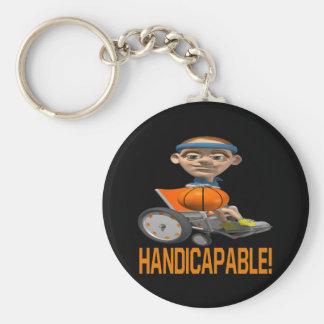 Handicapable Llavero Redondo Tipo Pin