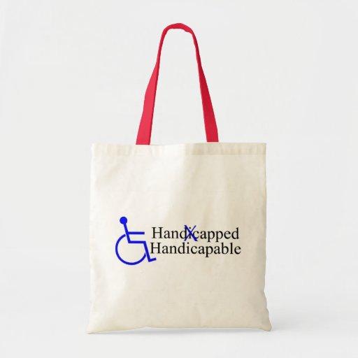 Handicapable perjudicado 2 bolsas de mano
