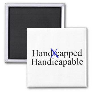 Handicapable perjudicado imán cuadrado