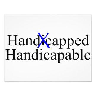 Handicapable perjudicado anuncios personalizados
