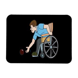 Handicapable Rectangular Photo Magnet