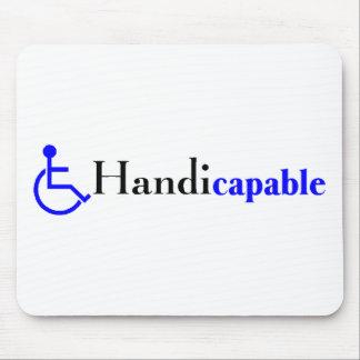 Handicapable silla de ruedas alfombrilla de raton