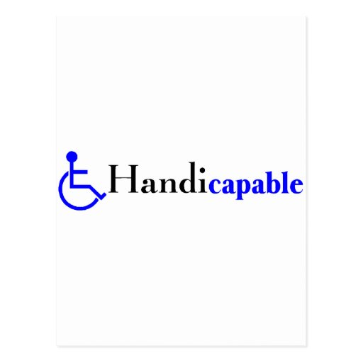 Handicapable (silla de ruedas) tarjeta postal