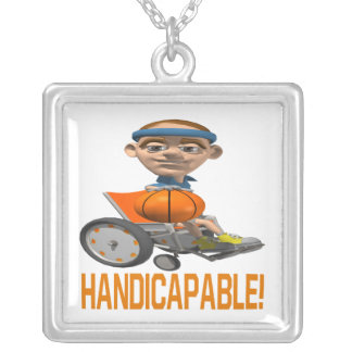 Handicapable Silver Plated Necklace