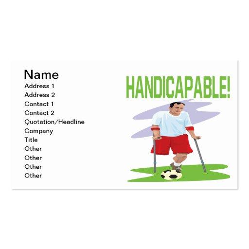 Handicapable Tarjetas De Visita