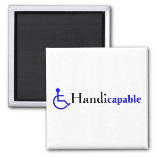 Handicapable (Wheelchair) 2 Inch Square Magnet