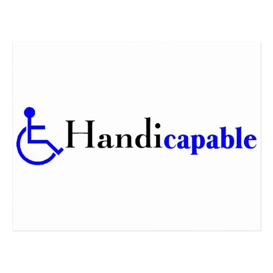 Handicapable (Wheelchair) Postcard