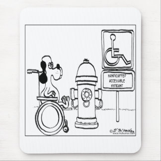 Handicapped Accessible Hydrant Mouse Pad